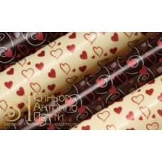 Переводные листы для шоколада, 30*40см. - Сердца с узорами, 12шт. (81461*R)