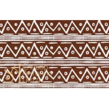 Переводные листы для шоколада, 30*40см. - Африканский узор, 12шт. (81790*R)