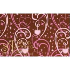 Переводные листы для шоколада, 30*40см. - Сердца с завитками, 12шт. (81792*R)
