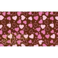 Переводные листы для шоколада, 30*40см. - Сердца, 12шт. (81793*R)