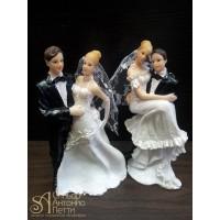 Свадебная фигурка - Свадебная пара (28417cN/p)