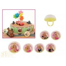 Набор пластиковых колец - Барби, 6шт. (71267/p)