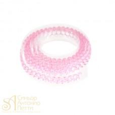Декоративная лента с украшением в виде кристаллов - Розовая, 90см. (25027*B/p)