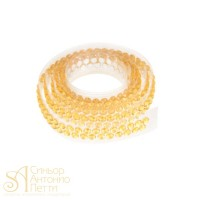 Декоративная лента с украшением в виде кристаллов - Золотая, 90см. (25027*E/p)
