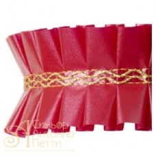 Лента с золотым переплетением - Красная, 2м. (24192*D/2)
