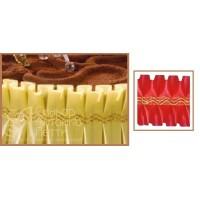 Лента с золотым переплетением - Красная, 10м. (24192*D/p)