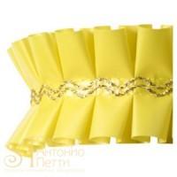 Лента с золотым переплетением - Желтая, 2м. (24192*E/2)