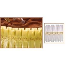 Лента с золотым переплетением - Белая, 10м. (24192*G/p)