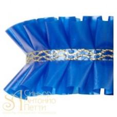 Лента с золотым переплетением - Синяя, 2м. (24192*K/2)
