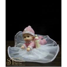 Фигурка новорожденного, розовая (26110*B/p)