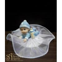 Фигурка новорожденного, голубая (26110*C/p)