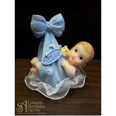 Фигурка новорожденного, голубая (26148*С/p)