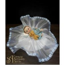 Фигурка новорожденного, голубая (26157*С/p)