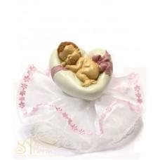 Фигурка новорожденного, розовая (26180*B/p)