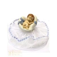 Фигурка новорожденного, голубая (26180*C/p)