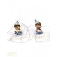 Фигурка новорожденного, голубая (26182*C/p)