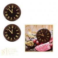 Формы с переводным рисунком для шоколада - Часы, 120шт. (33230)