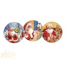 Вафельная пластина - Новый Год, 14,5см. (14425/р)