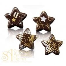 Формы с переводным рисунком для шоколада - Звезды, 160шт. (34125)