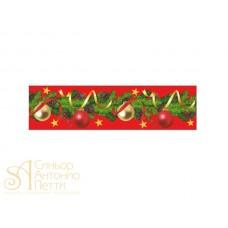 Бордюрная лента с рисунком - Шары красный фон, 50мм. 550м. 40мкр. (NSAH 50 Шары красный фон)