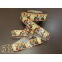 Бордюрная лента с рисунком - Снеговики, 60мм. 550м. 40мкр. (NSAH 60-550 Снеговики)