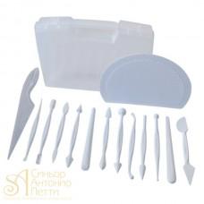 Набор инструментов для работы с мастикой, 12шт. (50WA004B)