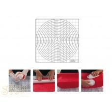 Пластиковый коврик с разметкой, 60*58см. (40-W167)