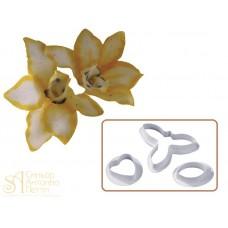 Набор вырубок для работы с мастикой - Орхидея, 3шт. (40-W006)