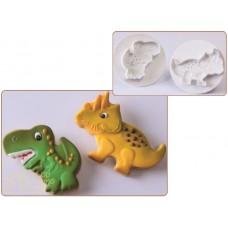Набор вырубок для работы с мастикой - Динозавры, 2шт. (40-WB102)