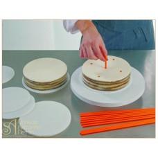 Пластиковые трубочки для создания высоких тортов, 50шт. (40-W101)