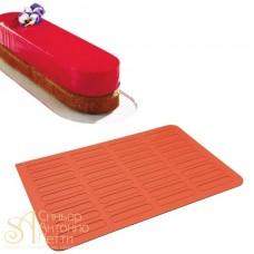 Силиконовый антиприграный коврик для выпечки эклеров, 59*39см. (30TE6001R)