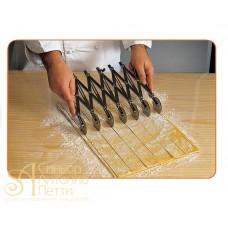 Дисковый раздвижной нож - Односторонний, рифленый. 7 дисков (ROTAPINOX 7O)