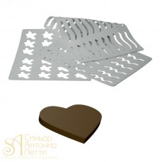Трафарет для шоколада - Сердце, 39*29см. (CHASIL 3)