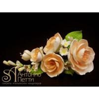 """Цветы из мастики - """"Букет роз"""", Чайный (11180*Mi/p)"""