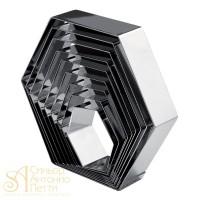 Металлическая форма - Шестиугольник, 22см. (3H5x22RU)