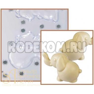 Набор форм для изготовления шоколадных фигурок - Слоник, 2шт. (20-C1008)