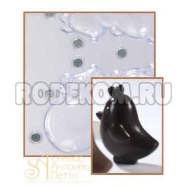 Набор форм для изготовления шоколадных фигурок - Цыплёнок, 2шт. (20-C1957)