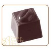 Форма для конфет - Куб с кофейным зерном (MA 1019)