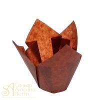 Бумажные формы для выпечки - Тюльпан, Коричневый, 50*h85мм. 200шт. (TULIP 160/50 N)