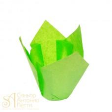 Бумажные формы для выпечки - Тюльпан, Зеленый, 50*h85мм. 200шт. (TULIP 160/50 L)