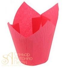 Бумажные формы для выпечки - Тюльпан, Розовый, 50мм. 200шт. (TULIP 150/50 B)
