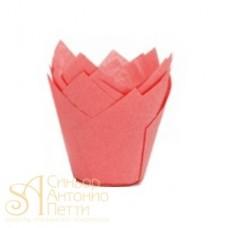 Бумажные формы для выпечки - Тюльпан, Красный, 50мм. 200шт. (TULIP 150/50 D)