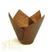 Бумажные формы для выпечки - Тюльпан, Коричневый, 50мм. 200шт. (TULIP 150/50 N)
