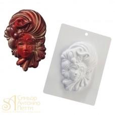 Форма для отливки шоколадных фигурок - Венецианская маска (20-CA001)