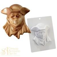 Форма для отливки шоколадных фигурок - Венецианская маска (20-CA005)