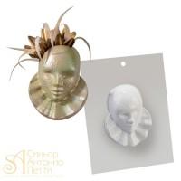 Форма для отливки шоколадных фигурок - Венецианская маска (20-CA009)