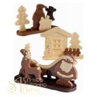 Набор форм для отливки шоколадных фигурок - Новогодний (20-S1010)