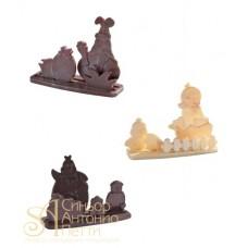 Набор форм для отливки шоколадных фигурок - Пасхальный (20-S2010)