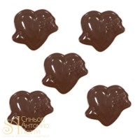 Форма для отливки шоколадных фигурок - Сердце со стрелой (90-1002)