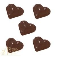 Форма для отливки шоколадных фигурок - Сердца (90-1005)